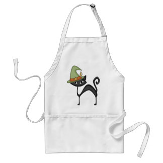 Black Cat Adult Apron