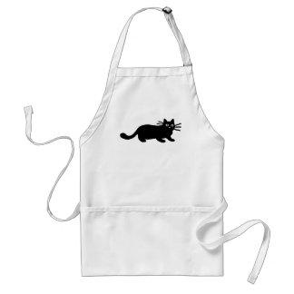 Black Cat Adult Apron