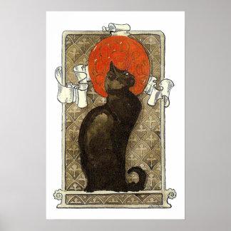 Black Cat, Alexandre Steinlen Poster