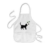 Black Cat and Butterfly Kids' Apron