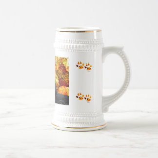 Black Cat and Fall Leaves Beer Stein