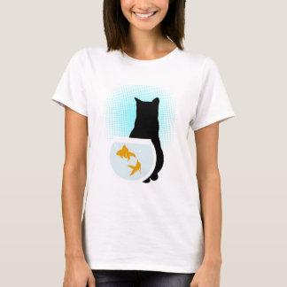 Black Cat and Gold Fish T-Shirt