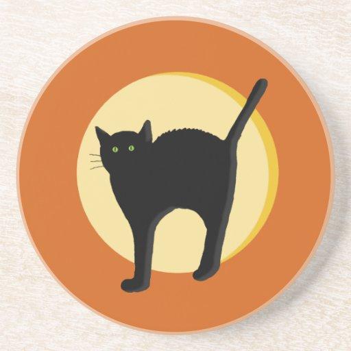 Black Cat and Harvest Moon Coaster