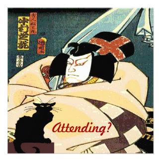 Black Cat and Japanese Man,  Attending? Personalized Invite