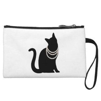 Black cat and jewel mini- clutch