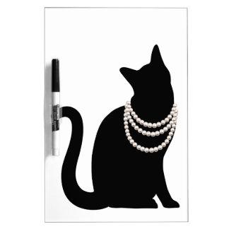 Black cat and jewel white board