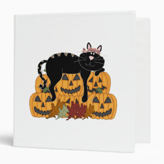 Black Cat and Pumpkins Binder