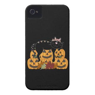 Black Cat and Pumpkins iPhone 4 Case