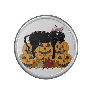 Black Cat and Pumpkins Speaker