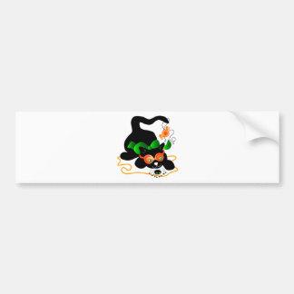 Black Cat and Spider Bumper Sticker
