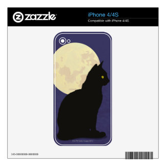 Black Cat and the Moon iPhone 4S Skin