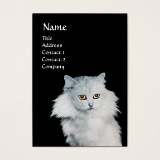 BLACK CAT AND WHITE CAT BUSINESS CARD