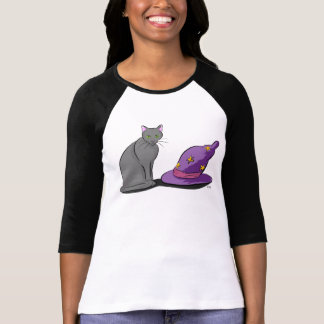 Black Cat and Witch Hat T-Shirt