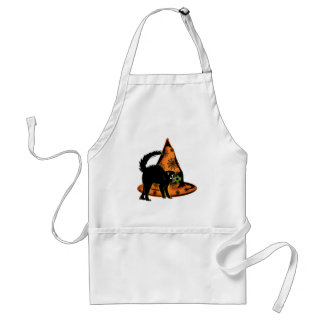 Black Cat and Witches Hat Adult Apron