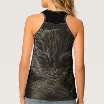 Black Cat Animal Art on Shirt