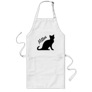 Black cat aprons | Personalizable text