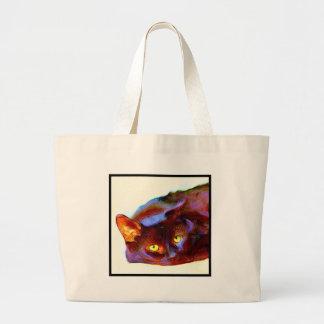 Black Cat Art Jumbo Tote Bag