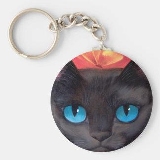 Black Cat Art  & Butterfly - Multi Key Chains
