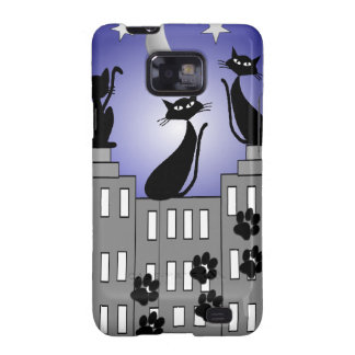 Black Cat Art for Cat Lovers Samsung Galaxy S2 Cover