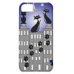Black Cat Art for Cat Lovers Case For iPhone 5C