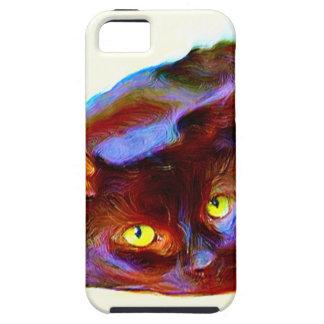 Black cat art iPhone SE/5/5s case