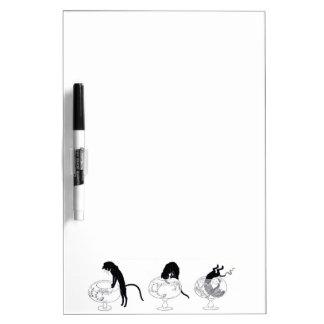 Black Cat Art Nouveau Chat Noir Steinlen Dry-Erase Board