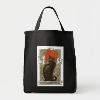 Black Cat - Art Nouveau - Theophile Steinland Grocery Tote Bag