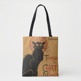 Black Cat Art Nouveau - Tote Bag