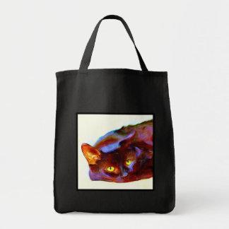 Black Cat Art Tote Bag