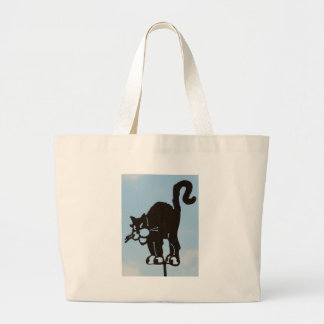 Black Cat Artwork Tote Bag