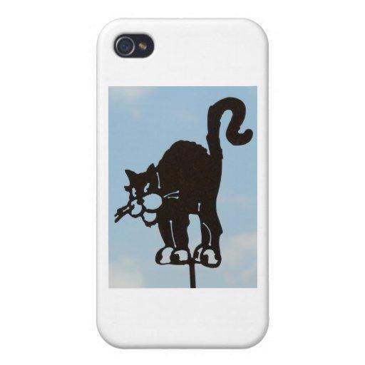 Black Cat Artwork iPhone 4 Covers