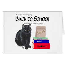 Black Cat Back to School Card