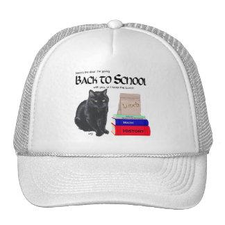 Black Cat Back to School Trucker Hats