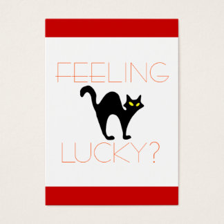 Black Cat Bad Luck Business Card