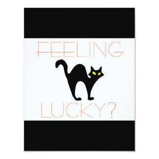Black Cat Bad Luck Card