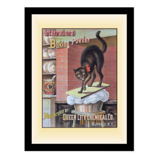 Black Cat Baking Soda Buffalo New York Postcards