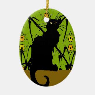 black cat bamboo christmas tree ornaments