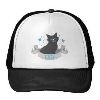 Black cat banner trucker hat