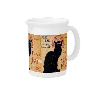 Black Cat Beverage Pitcher