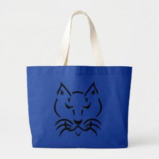 Black Cat BIG Blue Bag
