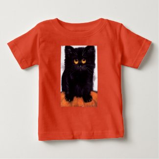 Black Cat Big Eyes Baby T-shirt