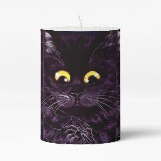 Black Cat Big Eyes Candle