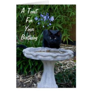 Black Cat Birthday Card 2