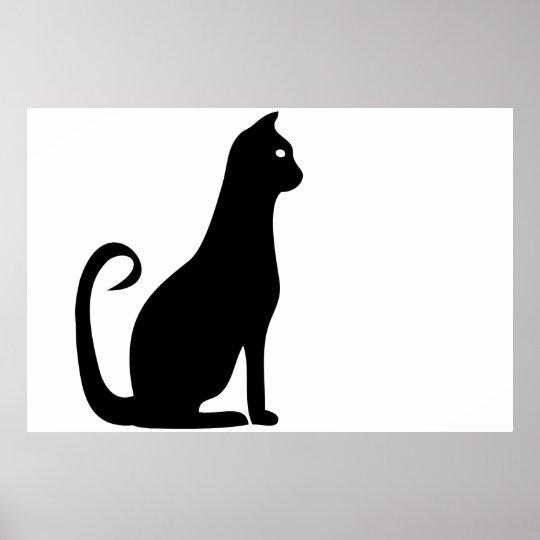 Black Cat Birthday Poster