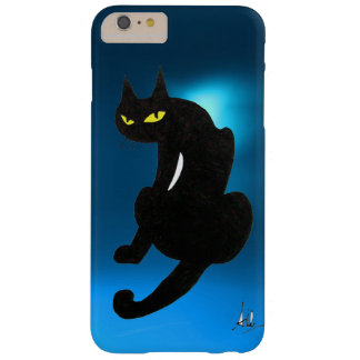 BLACK CAT blue Barely There iPhone 6 Plus Case