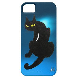 BLACK CAT blue iPhone SE/5/5s Case
