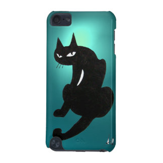 BLACK CAT blue iPod Touch 5G Cover