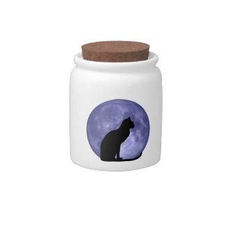 Black Cat Blue Moon candy jar
