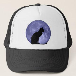 Black Cat Blue Moon hathat Trucker Hat