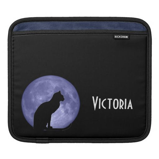 Black Cat Blue Moon iPad Sleeve